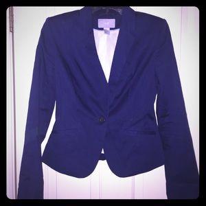 Navy blue cropped blazer